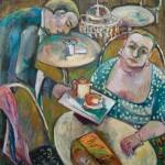Im Cafe, 2006, 85 x 80 cm